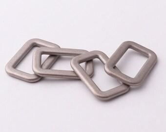 "Rectangle Ring 5/8""inch""(15mm) Purse ring Metal Rectangle Buckle Ring for Bag Belt Loop Strap Purse Handbag Hardware"
