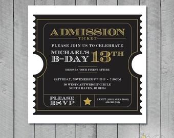 Custom Admission Ticket Invitation