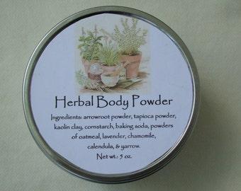 Herbal Body Powder, Herbal Powder, Herb Powder, Powder, Talc Free Powder, Bath Accessories, Herbs, Bath & Body, Lavender, Chamomile