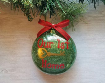 Our First Home Ornament - New House Ornament - New House Gift - Our First Home - Housewarming Gift - New Home Ornament - First Home Ornament