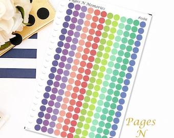 Mini Dot Checklist Bullet Journal Planner Stickers in Plum Paper Colors  #086