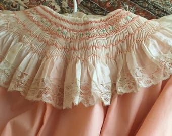 Hand Smocked Young Girls Dress