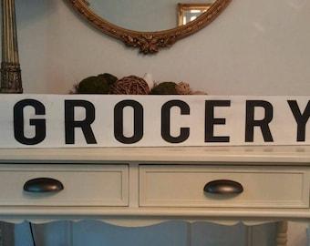 Large Grocery Sign - White Grocery Sign - Grocery sign over the door -sign for & Large grocery sign   Etsy