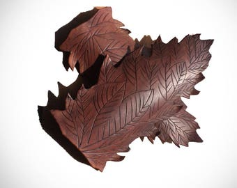 Leather Leaf Bracers