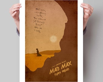 "MAD MAX Fury Road Inspired Furiosa Minimalist Movie Poster Print - 13""x19"" (33x48 cm)"