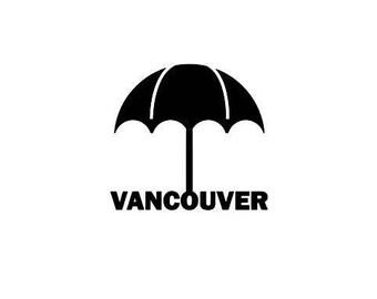 Vancouver Umbrella Rainy Day Vinyl Decal