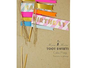 Toot Sweet Cake Flags