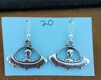 UFO Spaceship Alien Earrings