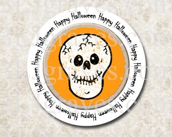 Halloween Stickers Skull Stickers Party Favor Treat Bag Stickers SH019
