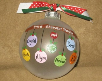 5-8 name Personalized Family Ornament