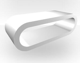 White Gloss Coffee Table - Large Hoop