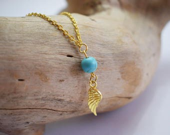 Angel Wing Necklace, 14k Gold Fill Angel Wing Necklace, Personalized Angel Wing Necklace, Miscarriage Necklace, Dainty Angel Wing Necklace