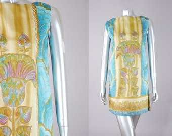 japanese pop art shift dress | 1960s shift dress | vintage 60s dress
