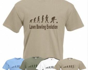 Evolution To Lawn Bowling t-shirt Funny Bowler T-shirt sizes Sm TO 2XXL