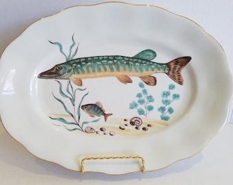 Vintage Mid Century Retro Decorative Fish Platter To Display or Use