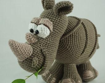 Amigurumi Crochet Pattern - Ronald the Rhinoceros - English Version