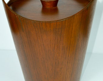 Danish Modern Teak Bentwood Ice Bucket