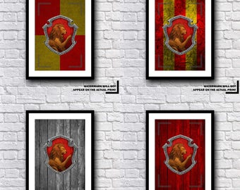 Harry Potter Gryffindor House Crest Print Various Designs And Sets - A MUST HAVE GIFT Present For Any Harry Potter Fan