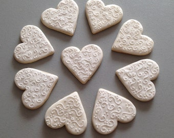 Fancy Heart  Sugar Cookies
