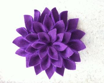 Purple Dazzling Dahlia Brooch