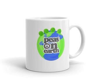 Peas on Earth Inspirational Peace Mug, Peace Mug