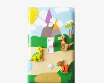 Dinosaur light switch cover / Boys bedroom dinosaur decor