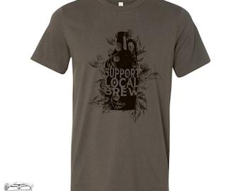 Men's Local BREW Growler t shirt s m l xl xxl (+ Color Options) custom