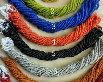 100 strands Bali handmade glass beads small 2 mm  60 cm