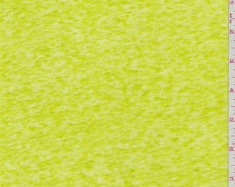 Citrus Green Linen Sweater Knit, Fabric By The Yard