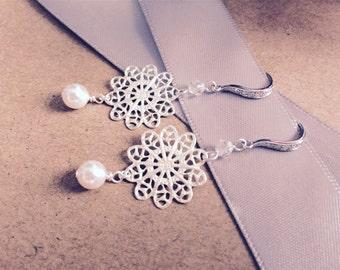 Filigree Earrings, Bridal Earrings, Wedding Jewellery