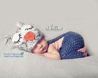 Crochet PATTERN - Baby Pants & Suspenders Crochet Pattern - Crochet Pattern Baby - Includes 4 Sizes - Photo Prop Pattern - PDF 232