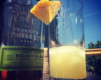 Southern Hospitality- Pineapple Collins glass