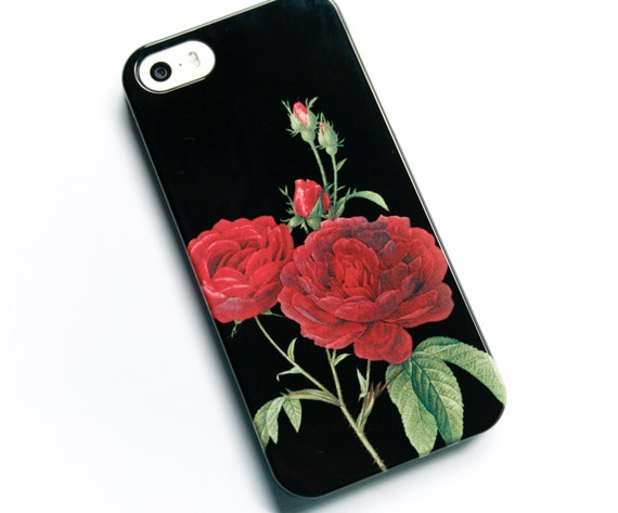 black iphone 6 case with roses
