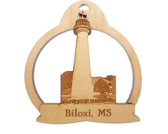 Biloxi Lighthouse - Biloxi Lighthouse Christmas Ornaments - Mississippi - Biloxi Mississippi Lighthouse Decor