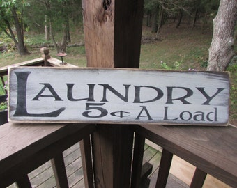 primitive laundry sign, wood sign laundry sign, , laundry,  ,Wall decor, cabin decor distressed laundry sign, country laundry sign
