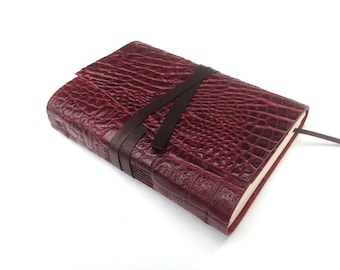 Leather bound journal, leather book, notebook, sketchbook, diary, recipi book,  handmade