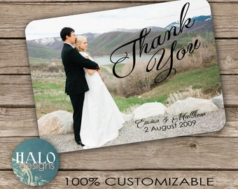 Wedding Thank You Postcard - printable card