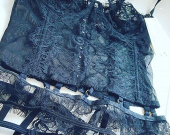 2 different styles available - Lingerie Set - & embellished with Swarovski (custom order)