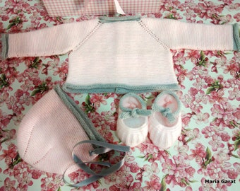 Handmade baby knit set.