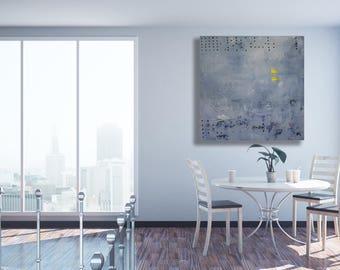 XL Grey Abstract Art / Modern Art / Texture Painting / Grey Abstract Painting / Large Art / Original Art