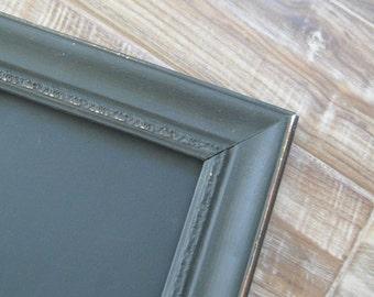 Black Framed Chalkboard / Kitchen Chalk board / Ornate Vintage Frame / Magnetic / Wedding / Large Sizes