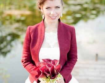 Bridal Cardigan Green Wedding Bolero Spring