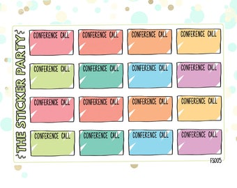 Conference Call Planner Stickers