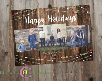 Family Holiday Card - Holiday Card - Christmas Card - Family Photo Card - Holiday Cards - Digital Holiday Card - Family Christmas Cards