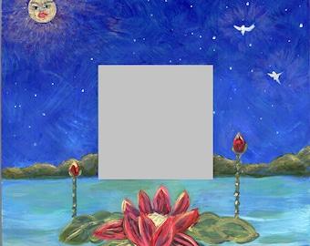 Waterlily Under the Golden Moon