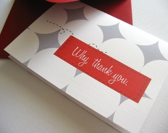 Why, Thank You- red, set of 6
