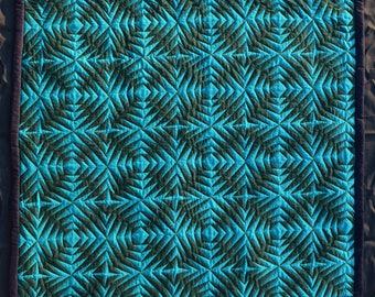 Turquoise Geometric quilt