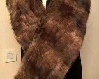 Vintage fox fur scarf