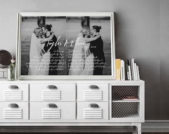 1st anniversary gift - anniversary gift - wedding vows framed - wedding vow art - wedding gift - wedding vow keepsake - wedding vows print
