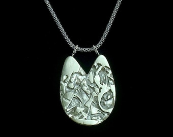 Contemporary Silver Pendant